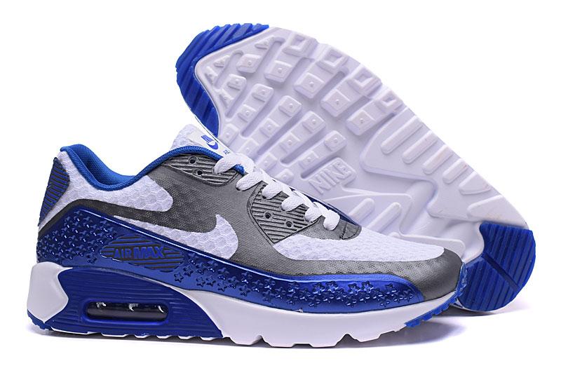 nike air max 90 homme chaussures bleu blanc 1033