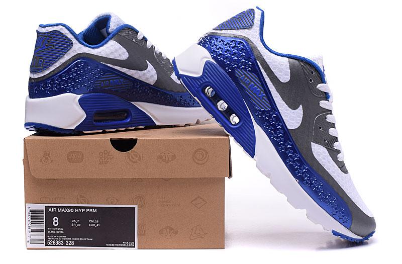 nike air max 90 homme chaussures bleu brun 1033