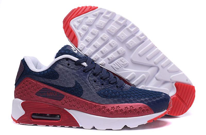nike air max 90 homme chaussures bleu brun 1034
