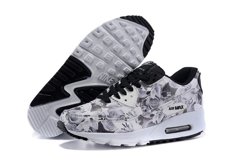 new specials discount outlet on sale Nike Air Max 90 Chaussures Femmes Fleur Blanc / Noir [N20150705-06 ...