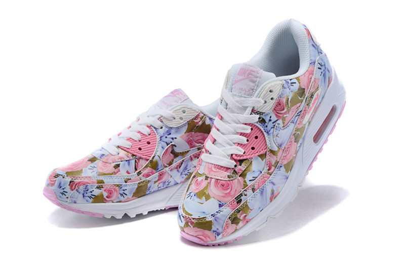 new products 267ef fac8f Nike Air Max 90 Chaussures Femmes Fleur rose   blanc