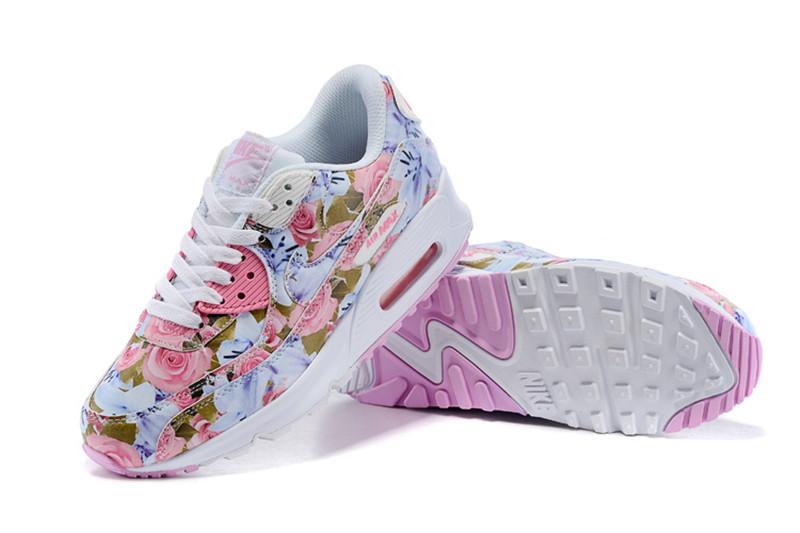 wholesale dealer c2f25 48cec Nike Air Max 90 Chaussures Femmes Fleur rose / blanc [N20150705-08 ...