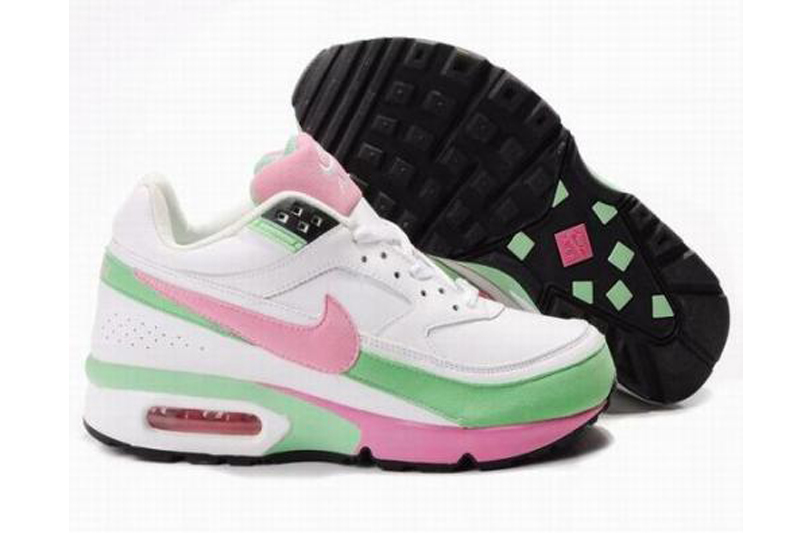 37573bf2f Nike Air Max Classic BW Chaussures Femme Blanc / Rose / Vert [N ...