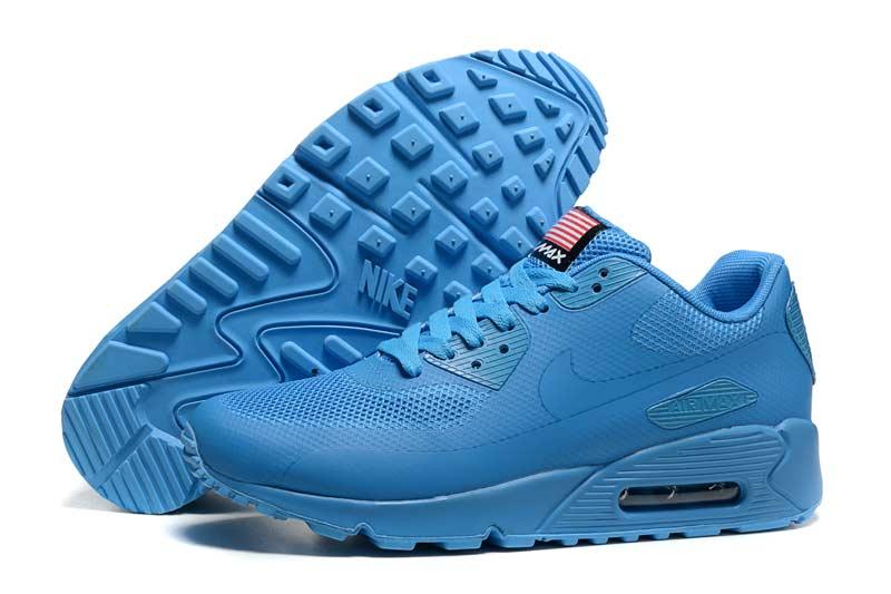 purchase cheap 8e4ef 39504 Nike Air Max 90 Femme Chaussures Bleu 2032