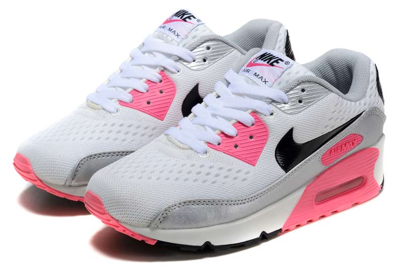63845e12441 Nike Air Max 90 Femme Chaussures Gris Rose 2053  N AM90 680029 ...