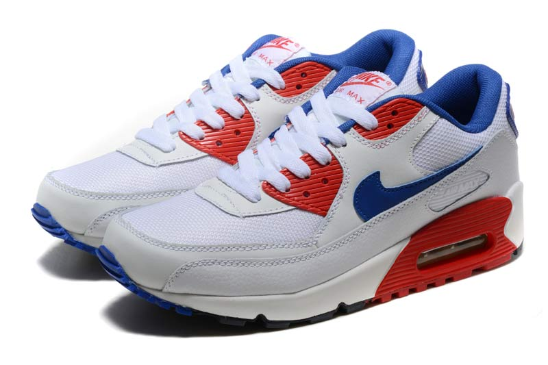 best service 3624f ec511 Nike Air Max 90 Femme Chaussures Gris Rouge 2028