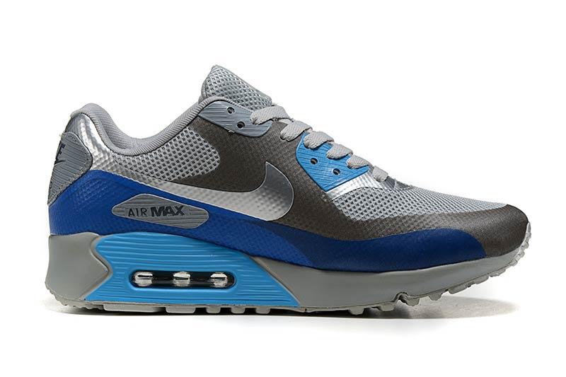 separation shoes 0a012 a2a6f Nike Air Max 90 Femme Chaussures Gris Bleu 5003