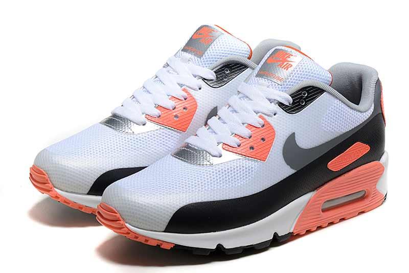 meilleur service 124d5 acce7 Nike Air Max 90 Femme Chaussures Orange Noir 5006 ...