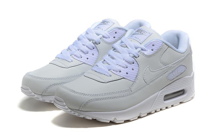 separation shoes 2c9e5 8dd67 Nike Air Max 90 Femme Chaussures Blanc 3004