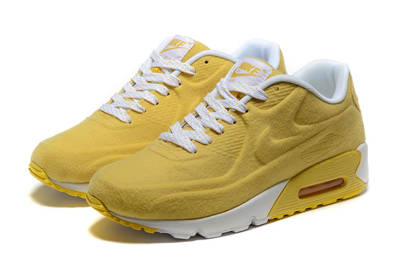 best authentic 919d4 8f0ee Nike Air Max 90 Femme Chaussures Jaune Blanc 3023
