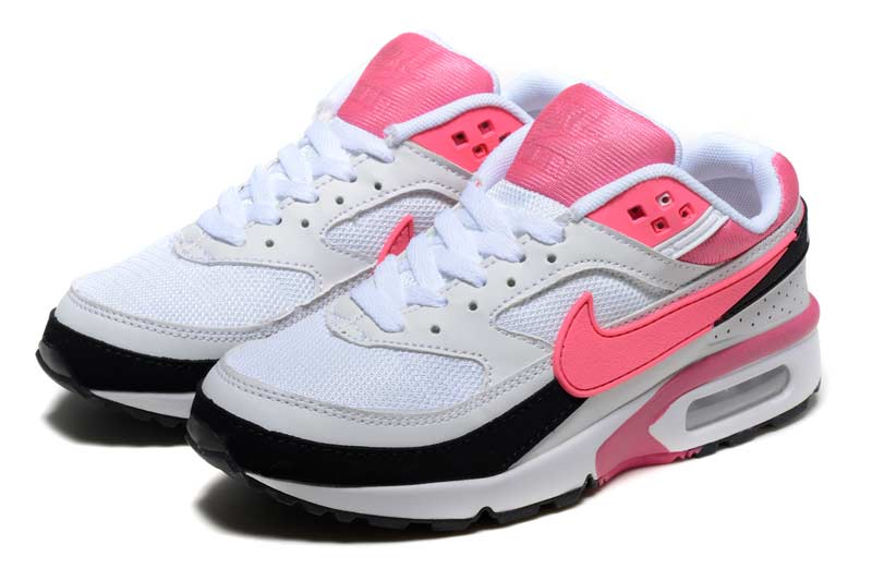separation shoes d2391 adef2 Nike Air Max BW Femme Chaussures Blanc Rose 2001
