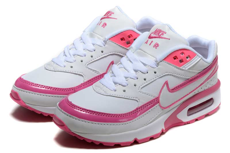 nike air max blanche rose