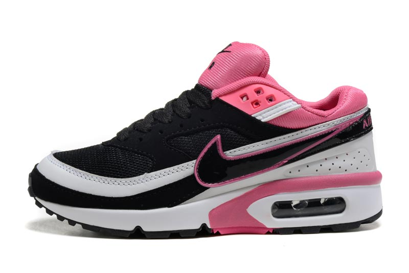 the latest 64917 ae4aa Nike Air Max BW Femme Chaussures Noir Rose 2003