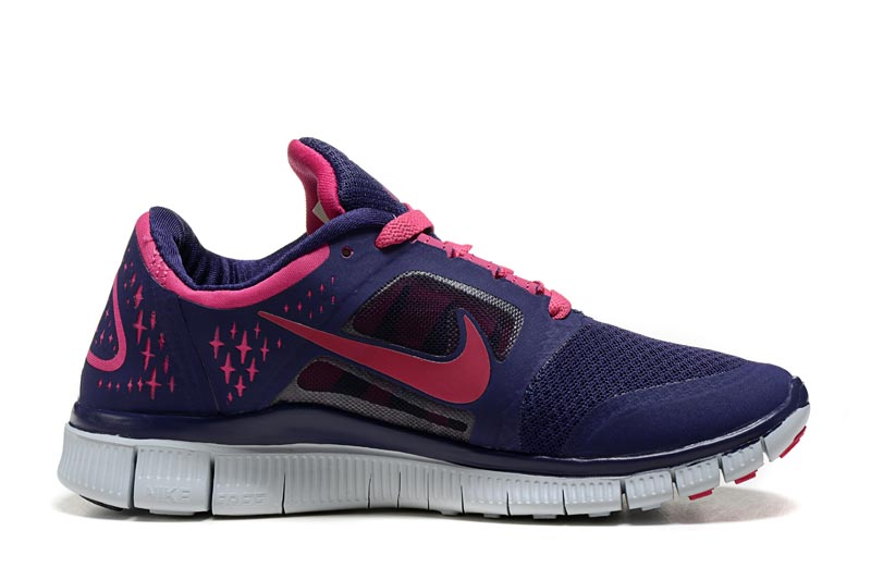 pas mal 35c52 20743 Nike Free 5.0 V3 Femme Chaussures Bleu Marine Rose 1009 ...