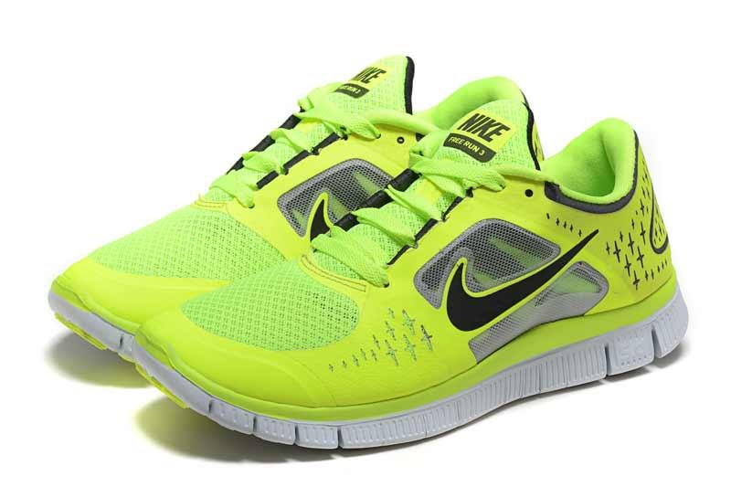 san francisco 42b06 ec4cd Nike Free 5.0 V3 Femme Chaussures Noir Jaune 1011