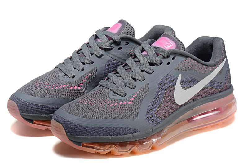 best website 29969 c037b Nike Air Max 2014 Femme Chaussures Brun Gris 2041