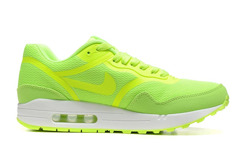 detailed pictures babc7 2cc5e Nike Air Max 1 Homme Chaussures Jaune Vert 4010