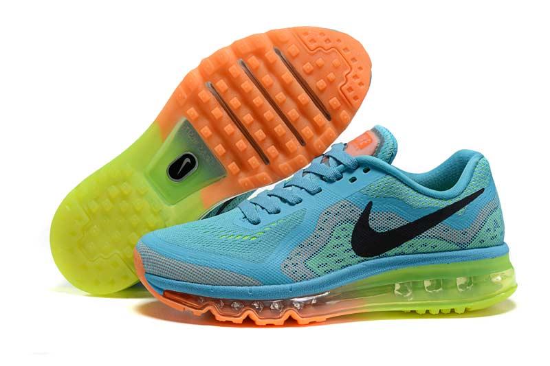 08bc483cfc6 Nike Air Max 2014 Homme Chaussures Bleu Jaune 1001  N AM2014 586012 ...