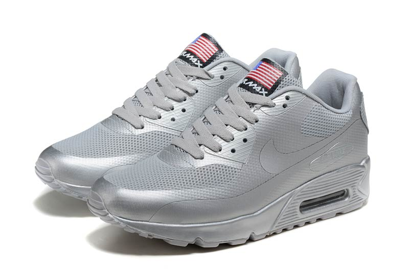 new arrival 7cdba 81c86 Nike Air Max 90 Homme Chaussures Argent 3049