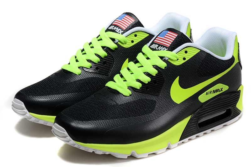 a3b68cbde541 Nike Air Max 90 Homme Chaussures Noir Jaune 1014  N AM90 550011 ...