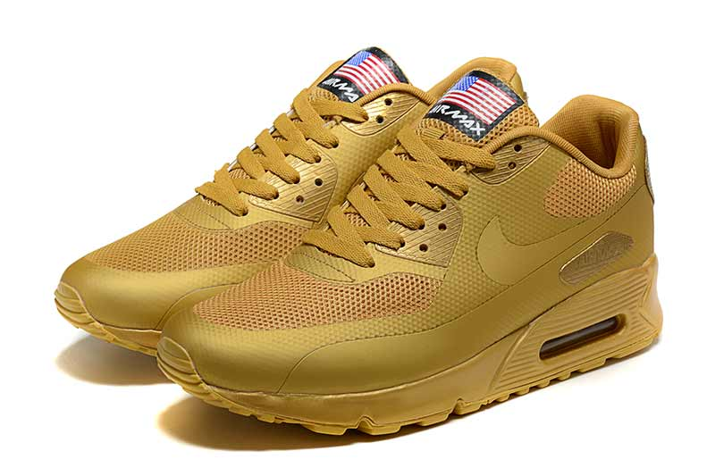 buy popular bcd28 02f0c Nike Air Max 90 Homme Chaussures Or 5005