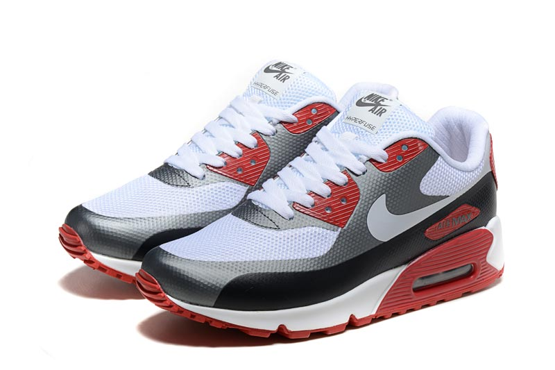 Nike Air Max 90 Homme Chaussures Rouge Blanc 3064