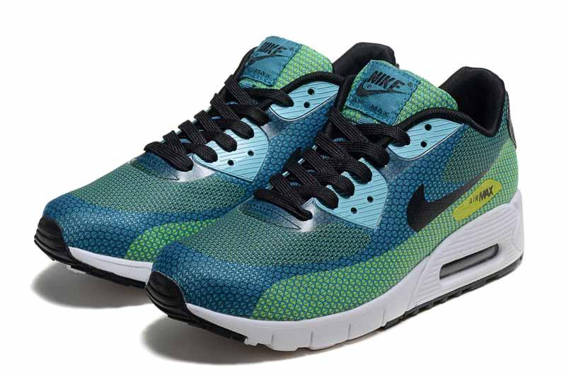 online retailer 52394 23596 Nike Air Max 90 Homme Chaussures Vert Bleu 3052
