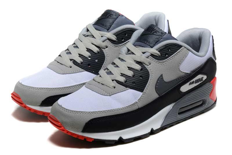 buy online c0909 ddcc1 Nike Air Max 90 Homme Chaussures Noir Blanc 5024