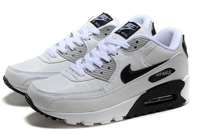 free shipping 5cef6 b31de Nike Air Max 90 Homme Chaussures Blanc Noir 1005