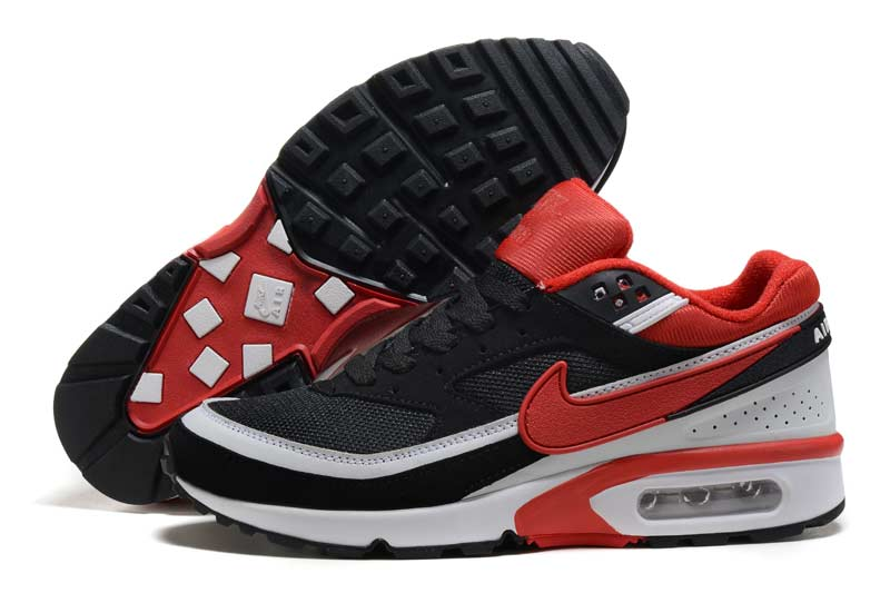 the best attitude fa07e 8bd63 nike air max bw homme chaussures noir rouge 3007
