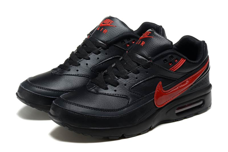 Nike Air Max BW Homme Chaussures Noir Rouge 3010 ...