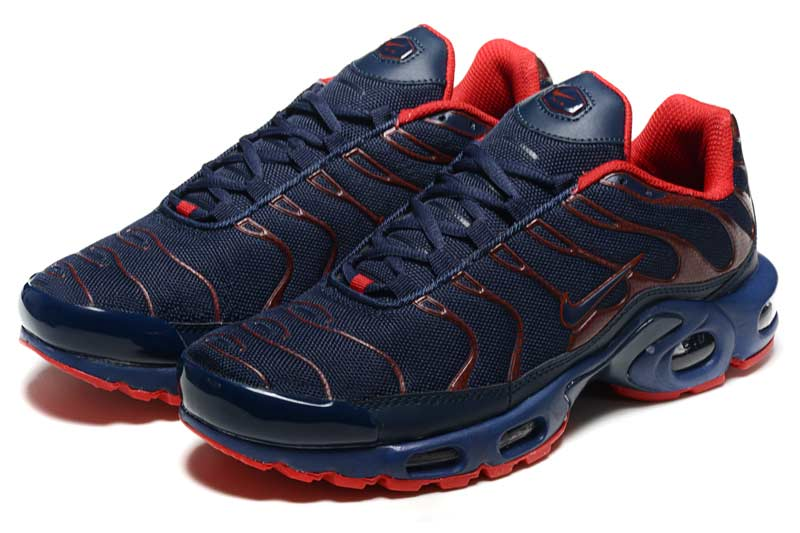 newest f4693 fe882 Nike Air Max TN Homme Chaussures Noir Rouge 2017