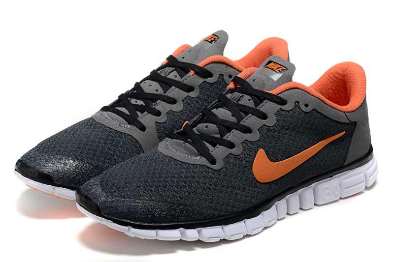 info for 7fc43 d43a6 Nike Free 3.0 V2 Homme Chaussures Orange Noir 2008