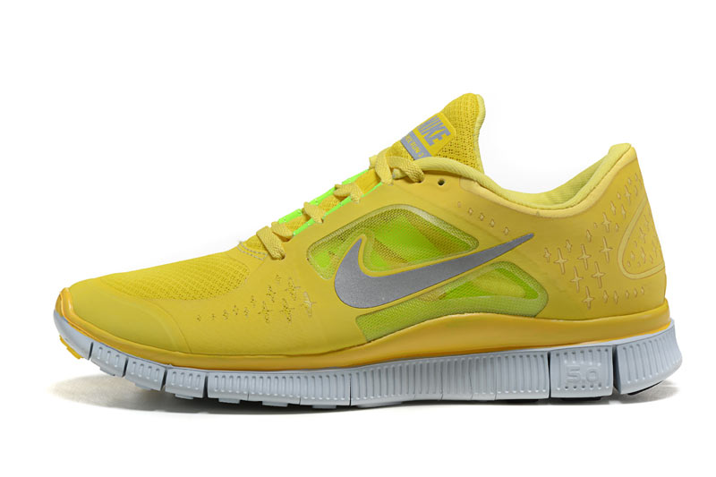 huge selection of b7afb 1b5a7 ... Nike Free 5.0 V3 Homme Chaussures Jaune Vert
