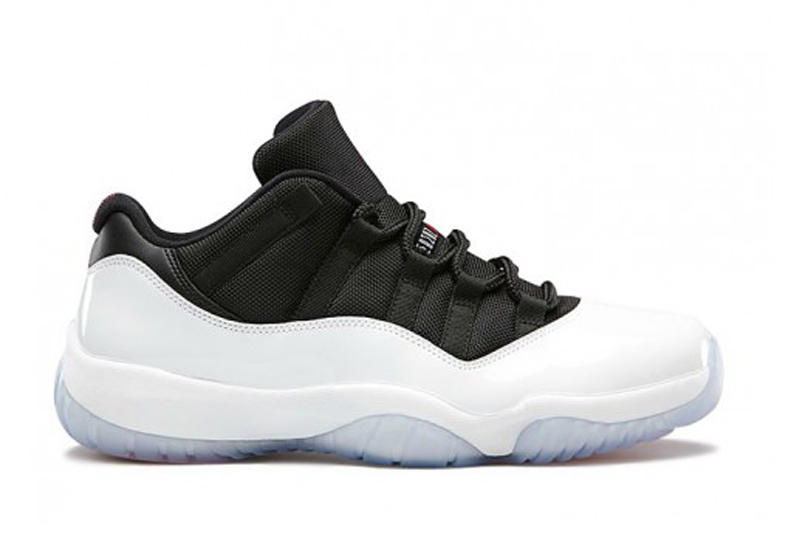 air jordan 11 retro low blanc noir