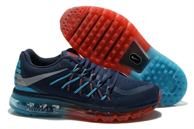 best cheap cda85 92d6c Nike Air Max 2015 Bleu Marine   Jade Rouge