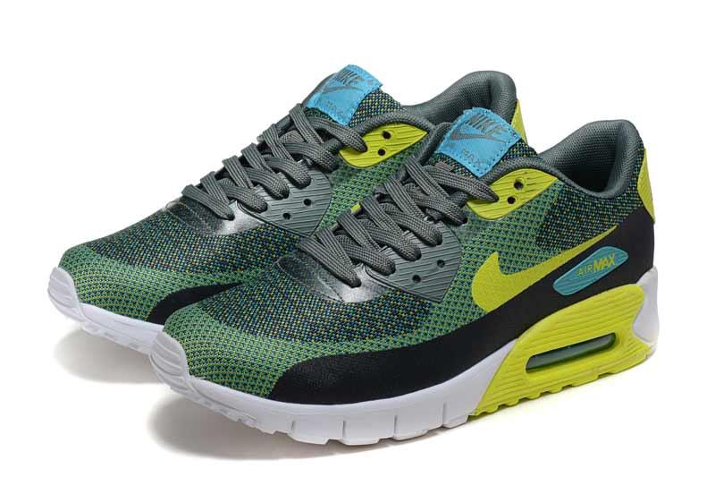 premium selection 2e512 d2add Nike Air Max 90 Femme Chaussures Noir Vert 2010